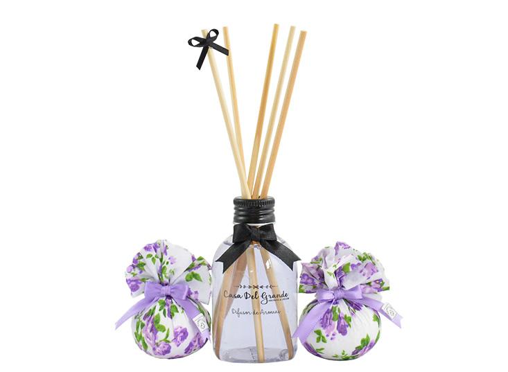 Kit Difusor Aromatizador + Sachê Perfumado - Casa Del Grande - Lavanda