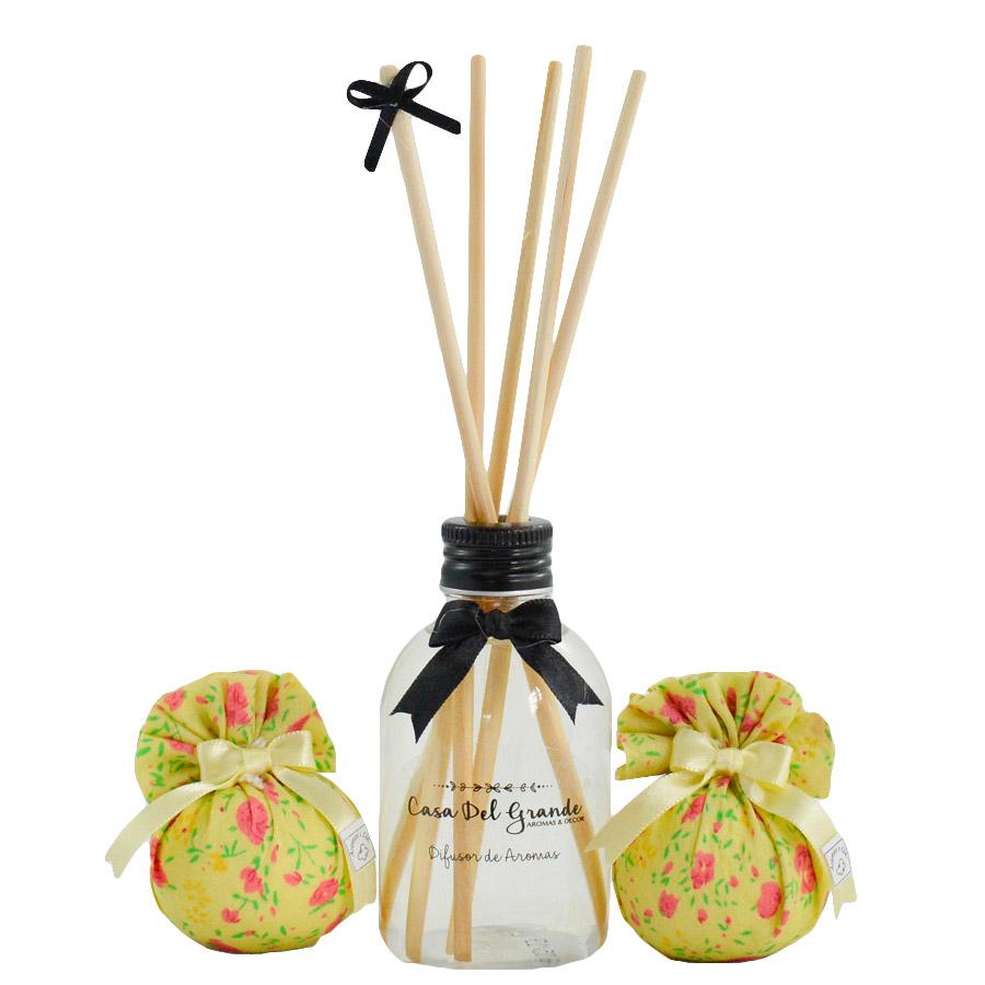 Kit Difusor Aromatizador + Sachê Perfumado - Casa Del Grande - Raízes