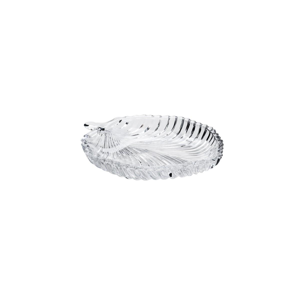 Kit com 2 pratos  20,5 x 17 x 2,5 cm -  Cristal de chumbo