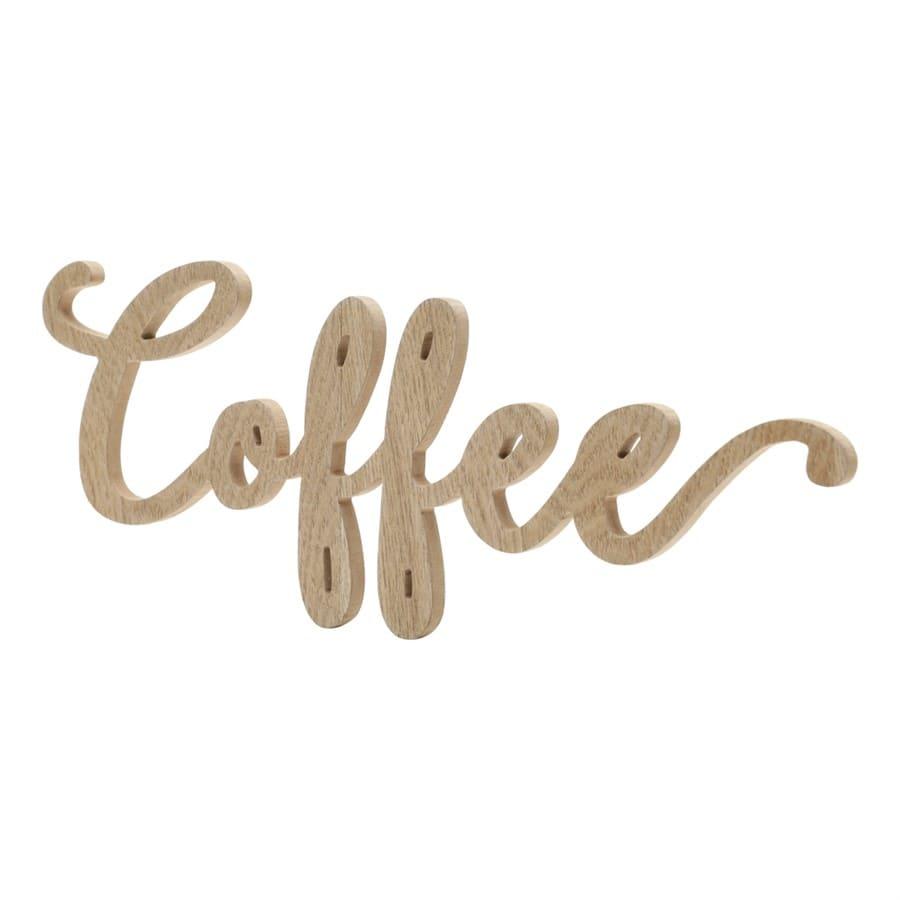 Letra Decorativa Coffee em Madeira Decoração Sala/Cozinha