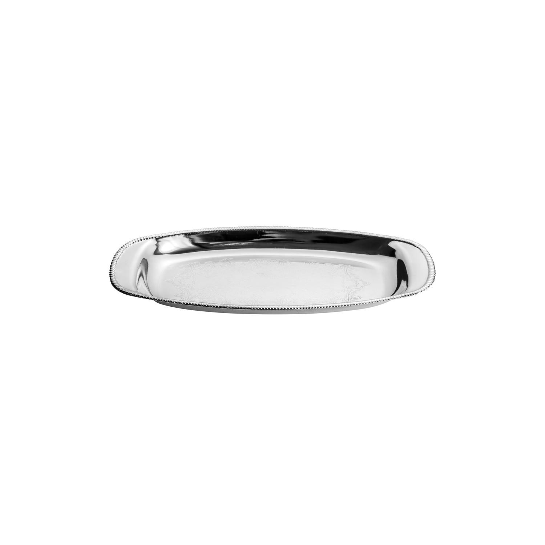 Mini Bandeja de Zamac Silver Plated Beirute 21 x 10 cm