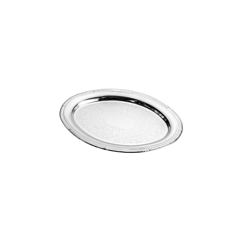 Mini Bandeja de Zamac Silver Plated Haifa 19 x 13,5 cm
