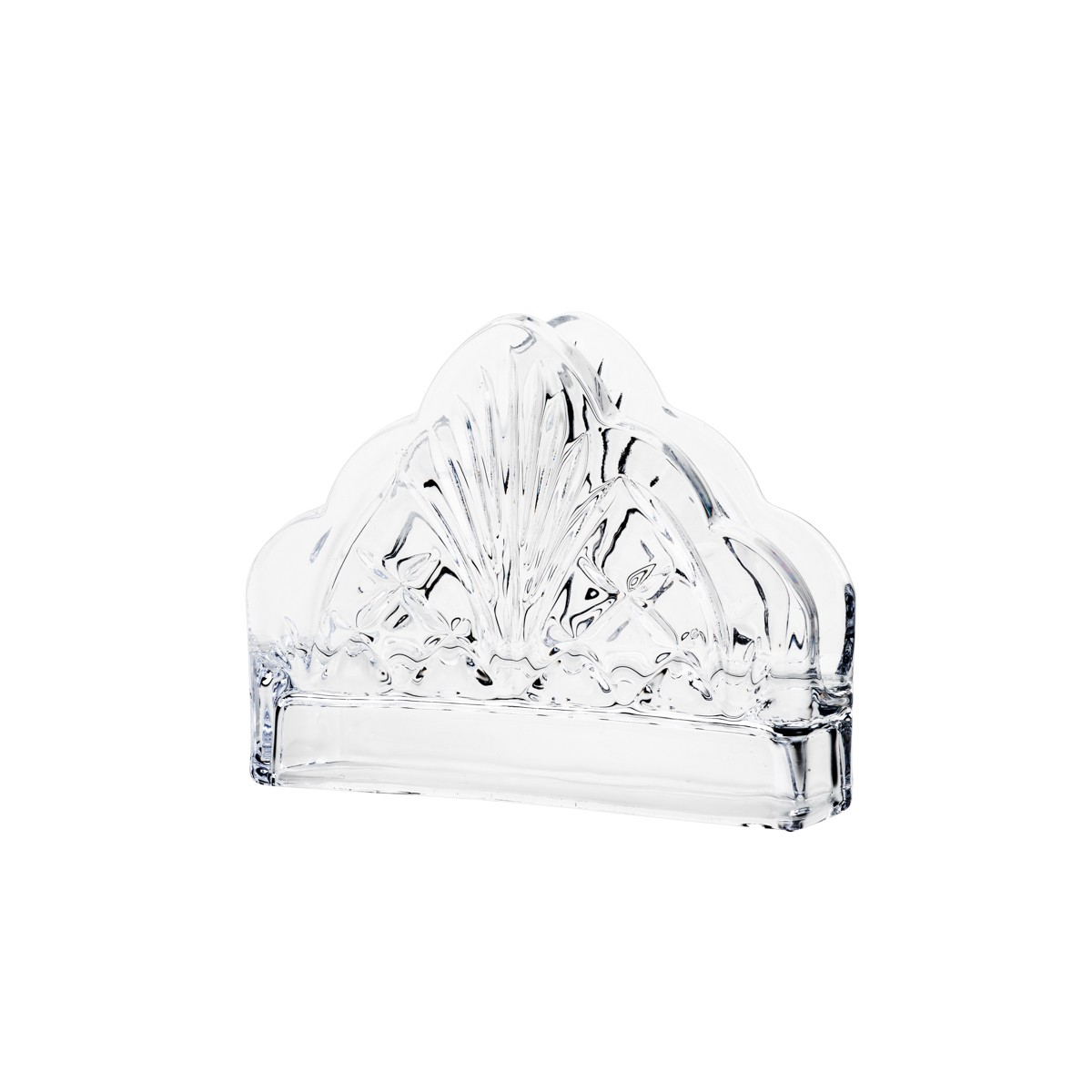 Porta Guardanapo de Cristal Dublin 13 x 4,5cm