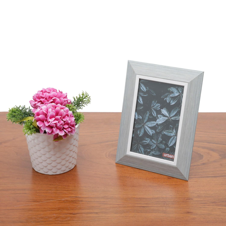 Porta Retrato Moderno em Madeira para Decoração Casa/Sala Pine Cinza 10x15cm