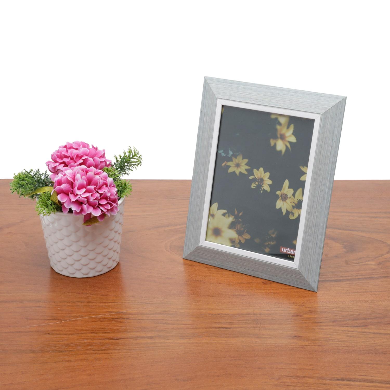 Porta Retrato Moderno em Madeira para Decoração Casa/Sala Pine Cinza 13x18cm