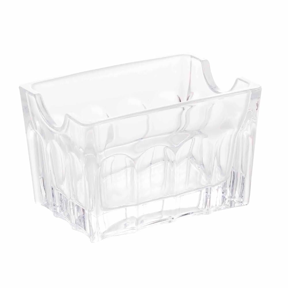 Porta sachê / Adoçante de vidro Faces 6,5 x 5 cm