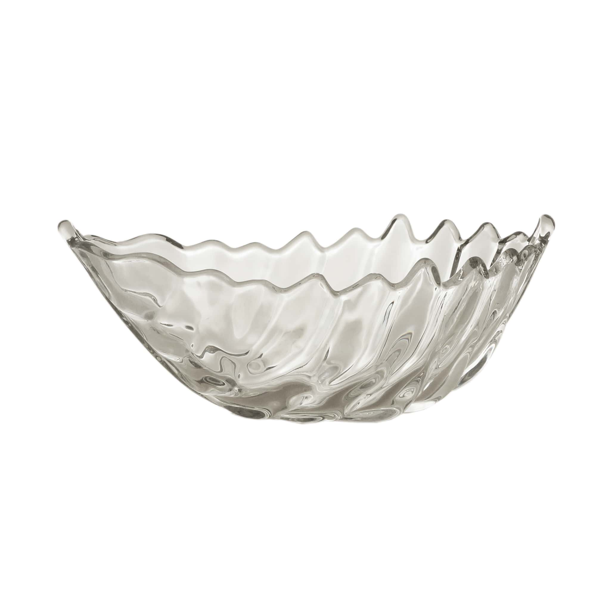 Prato / Bowl Folha Decorativa de cristal de chumbo 19 x 10,5 cm