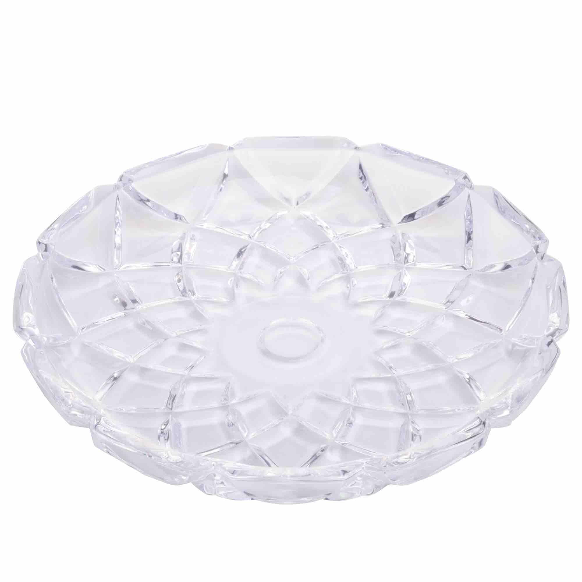 Prato de Cristal Deli Diamond 18,5 x 2,5cm