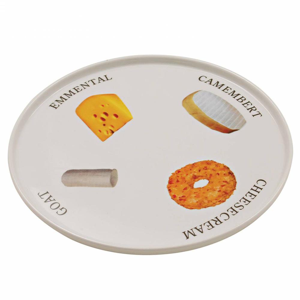 Prato Para Queijo De Cerâmica 30cm x 30cm x 2cm