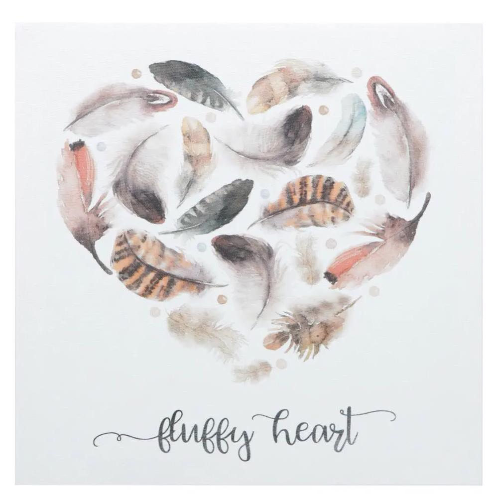 Quadro Tela Fluffy Heart Decoração Quarto Sala