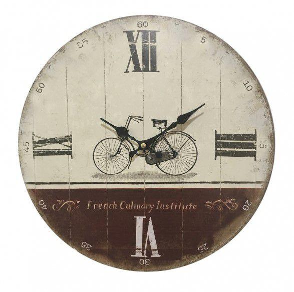 Relógio de Parede em Madeira com Número Romano