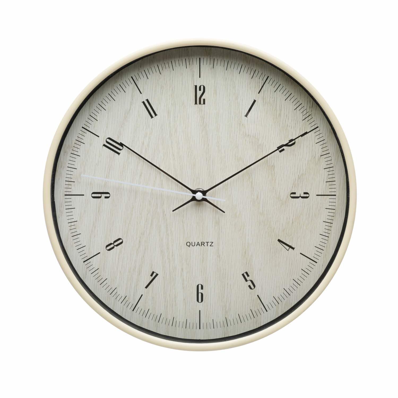 Relógio de Parede Dark Wood - Bege
