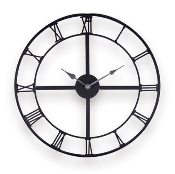 Relógio Vazado Com Números Romanos Marrom Em Metal - 34 C