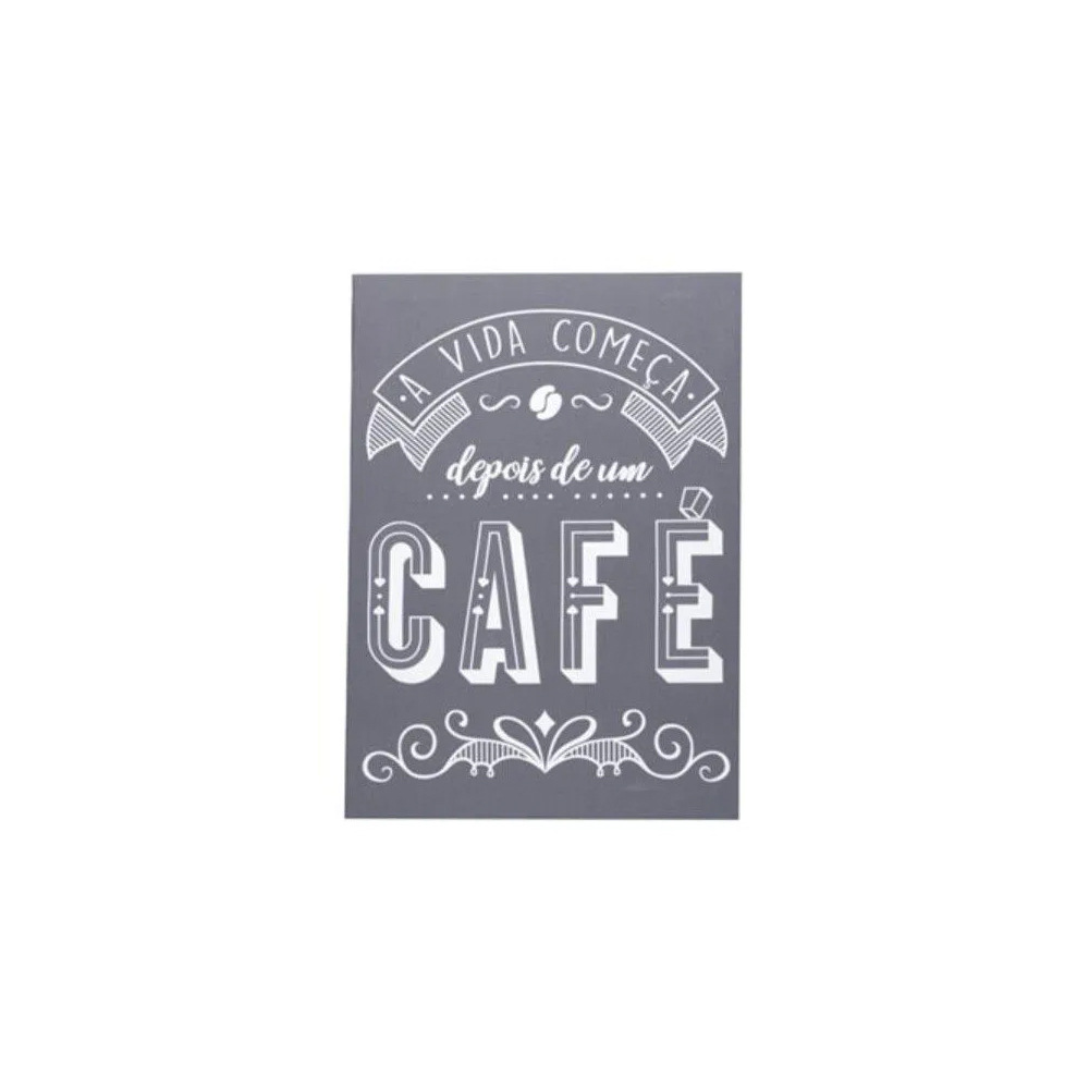 Tela Quadro A Vida Começa Depois De Um Café Decoração