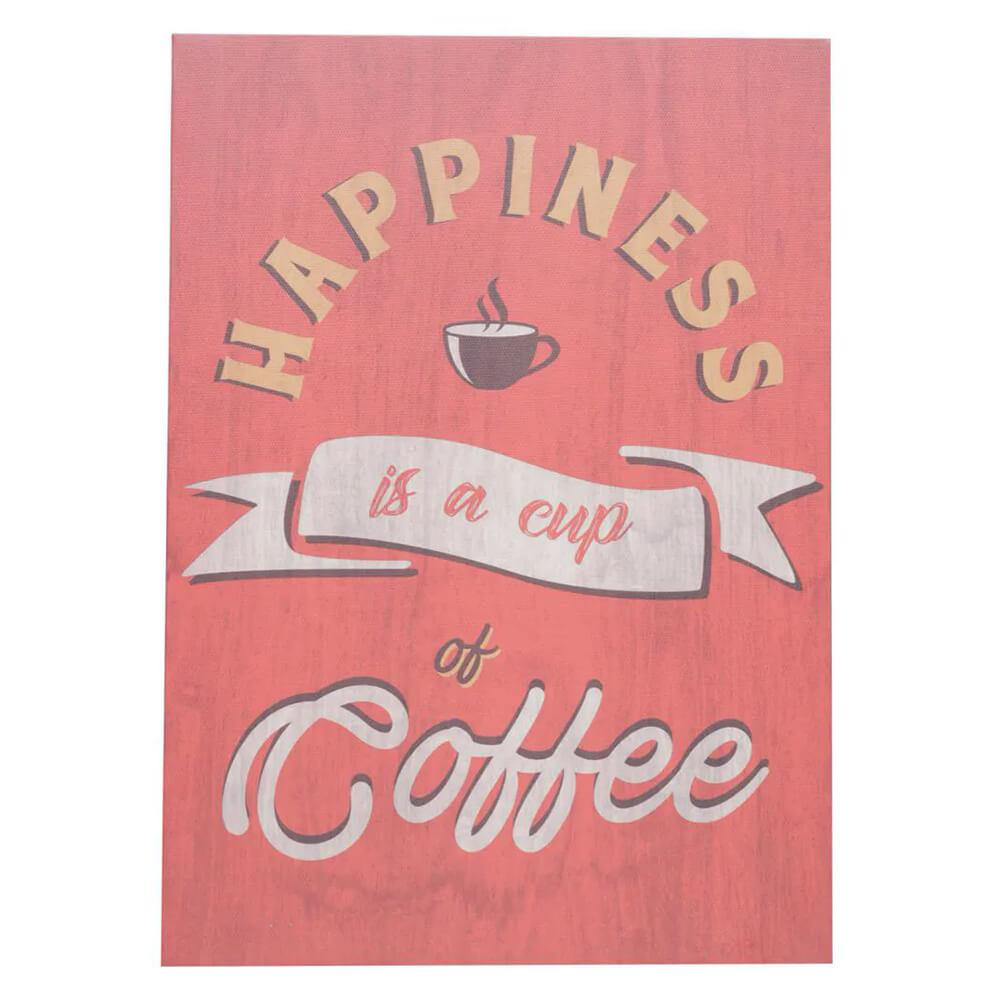 Tela Quadro Happiness Coffee Decoração Cantinho Café