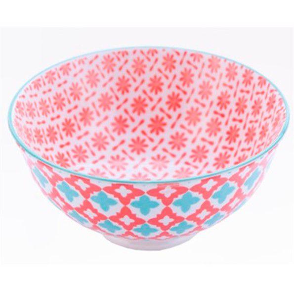 Tigela Bowl Cumbuca em Cerâmica Colorida Nova Delhi