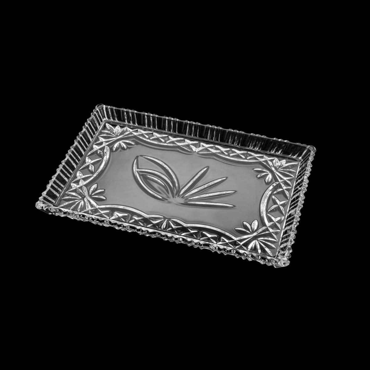 Travessa de Cristal de Chumbo Janine 29,5 x 19,5 cm