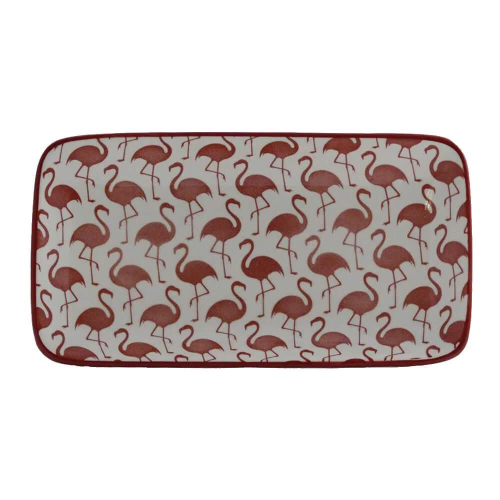 Travessa em Cerâmica Flamingo 13x23cm