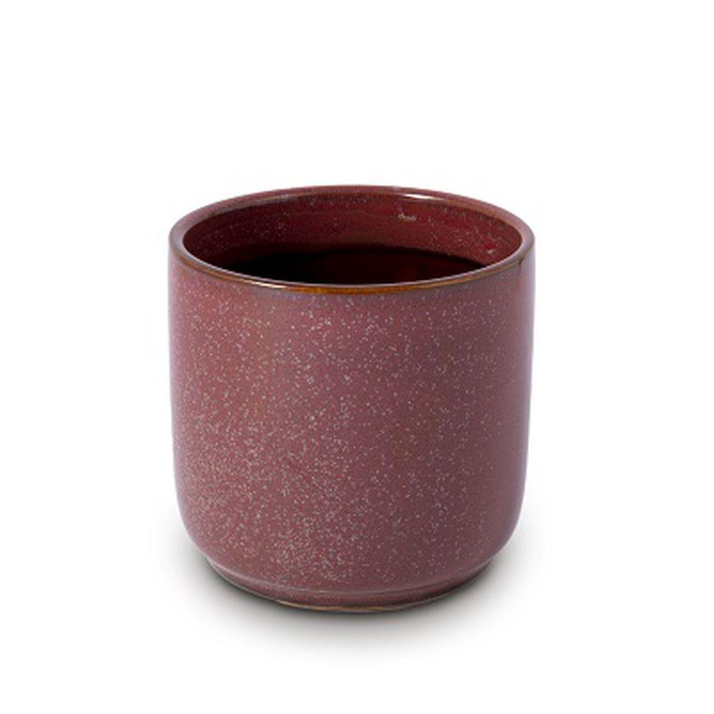 Vaso Cachepot Para Flores Em Cerâmica  12 X 11,5 Cm Decoração