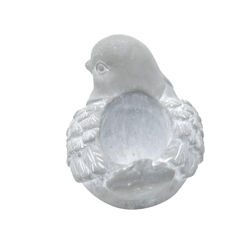 VASO CONCRETO BIRD BREEZE CINZA 10,5 x 7,5 x 8 cm
