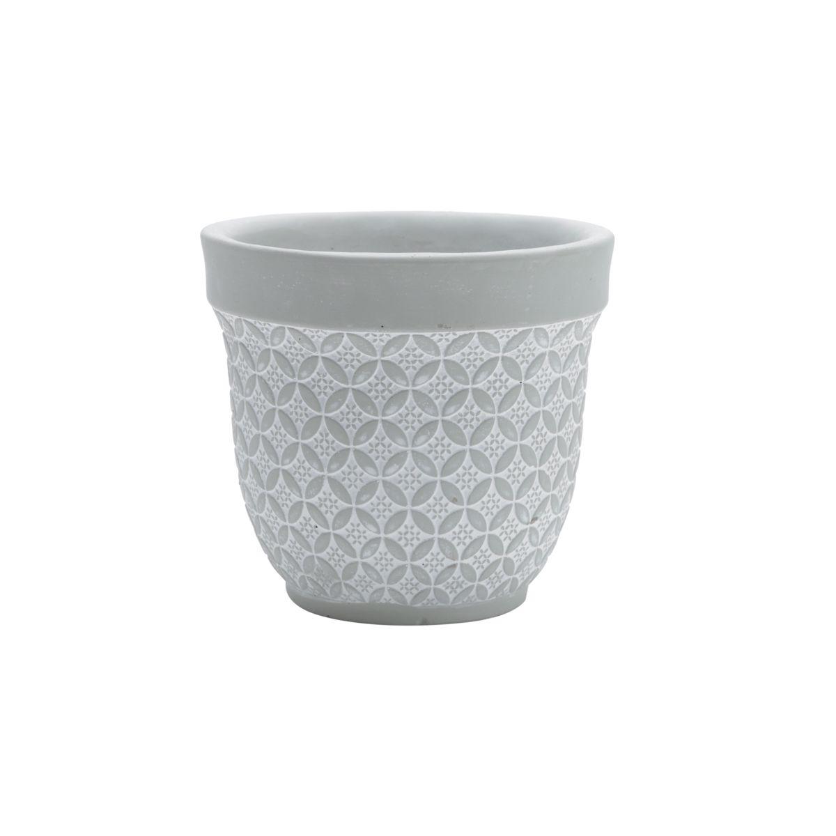 Vaso de Concreto Modern Garden Cinza 16x16x15 cm
