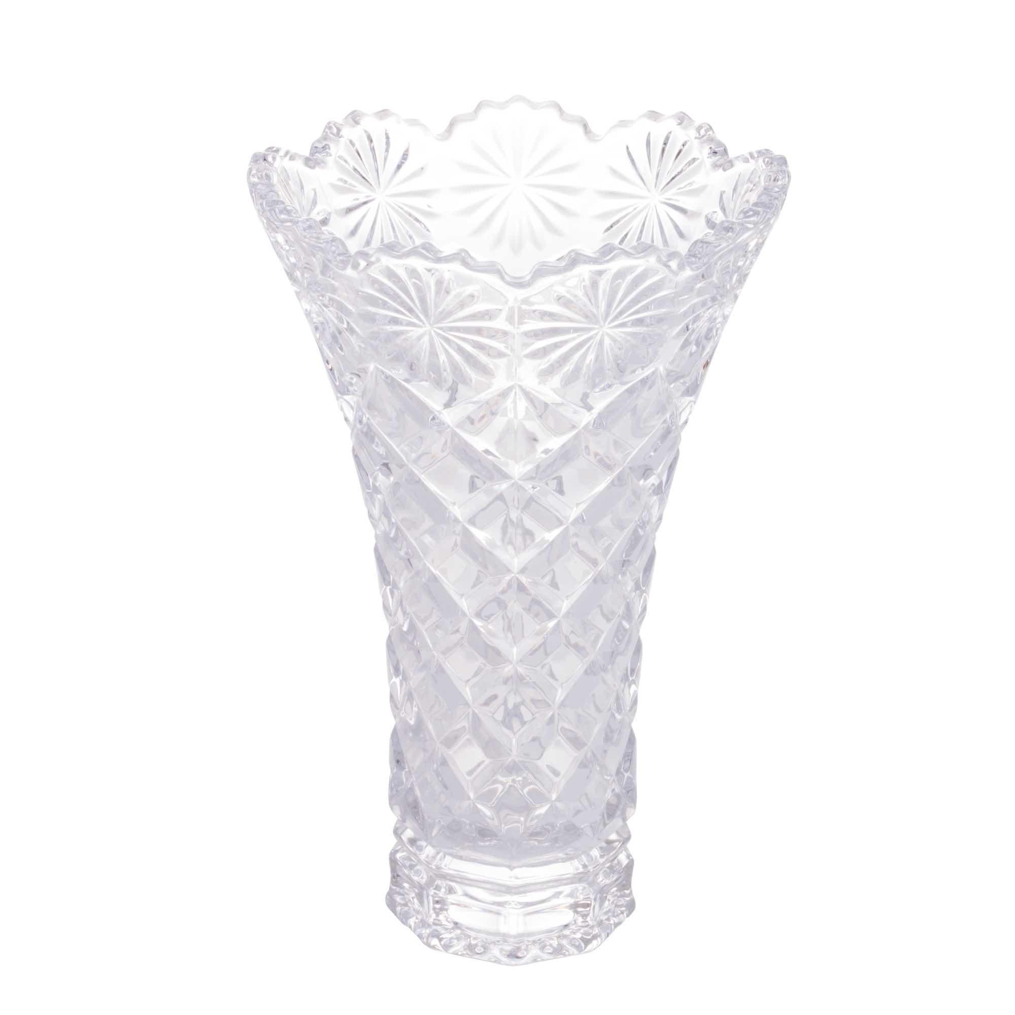 Vaso de Cristal Diamond Star 15 x 25 cm