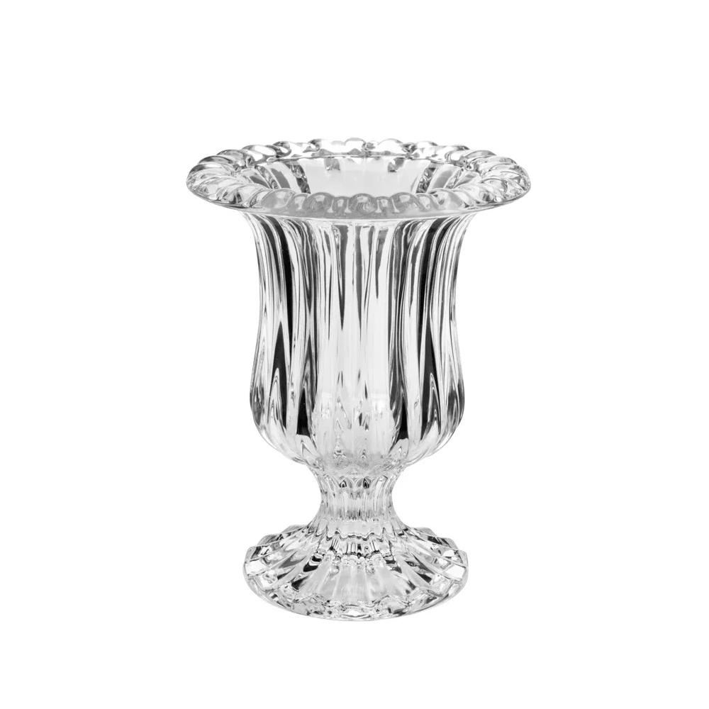 Vaso de vidro com pé / base  Renaissance 14,5x11,5cm