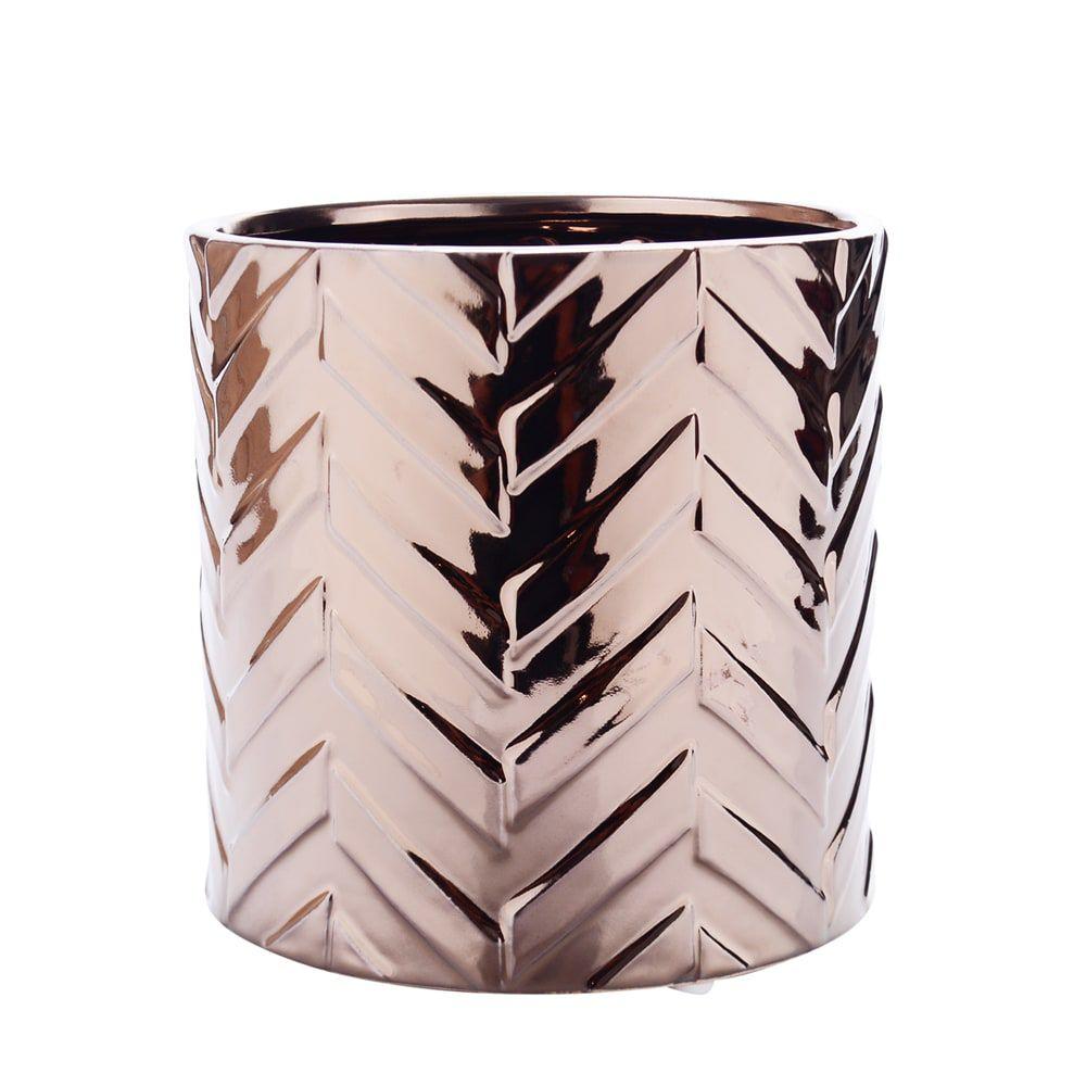 Vaso Decorativo Bronze Escama