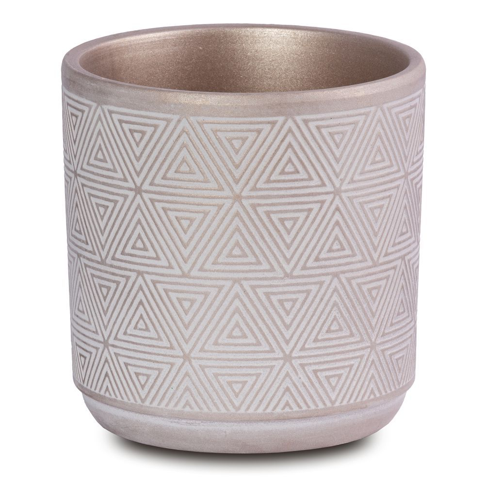 Vaso Em Cerâmica Champagne Para Plantas, Flores E Suculenta