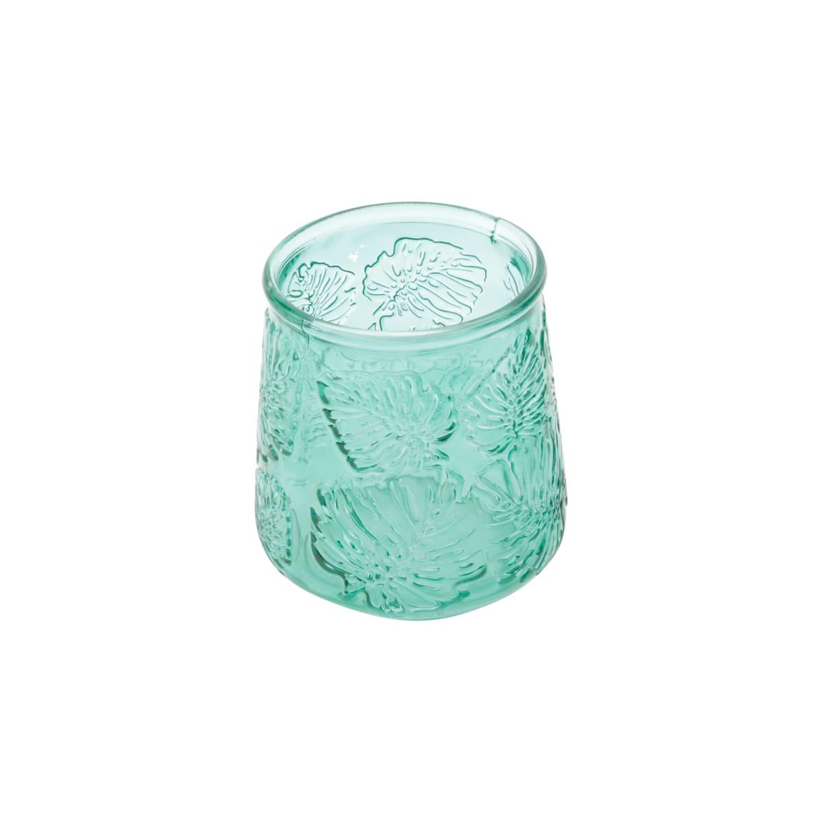 Vaso em Vidro Verde Costela de Adão