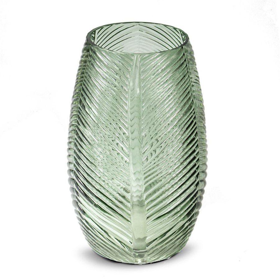 Vaso em Vidro Verde Escama 12x19,8cm