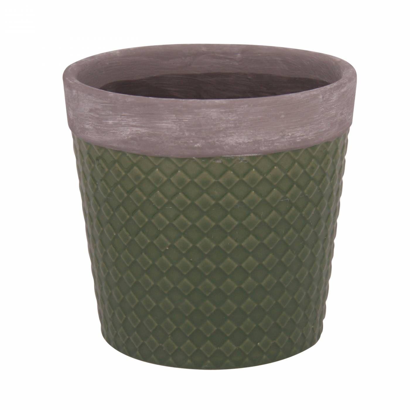 Vaso Textura Losango - Verde