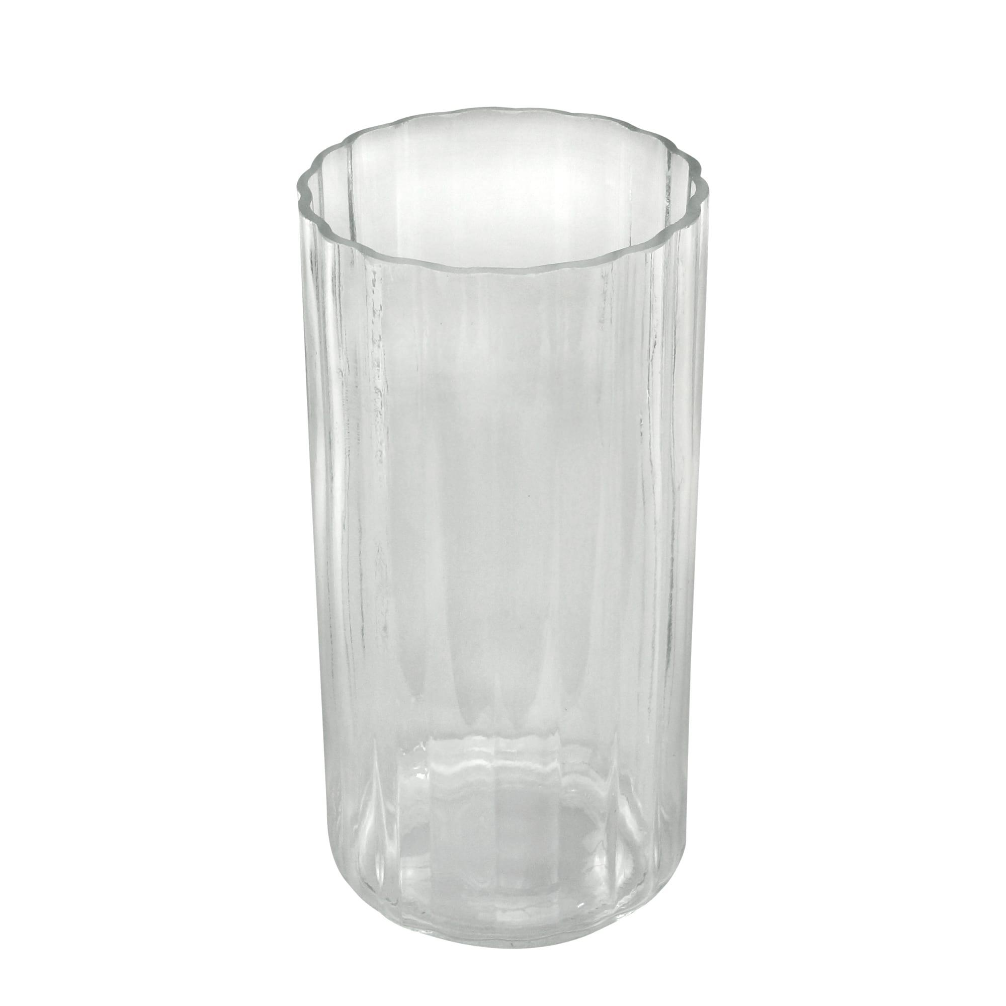 Vaso Vidro Transparente 11,6 x 11,6 x 23,8 cm