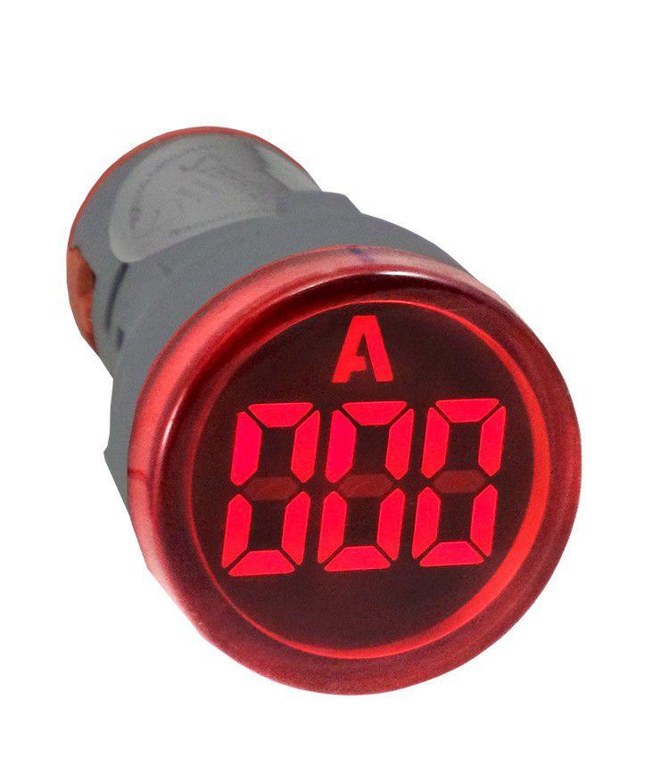 Amperímetro Digital 0 a 100A para Painel 22mm