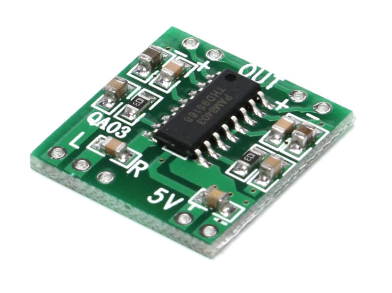 Amplificador de Som Mini PAM8403 Stereo 3W RMS