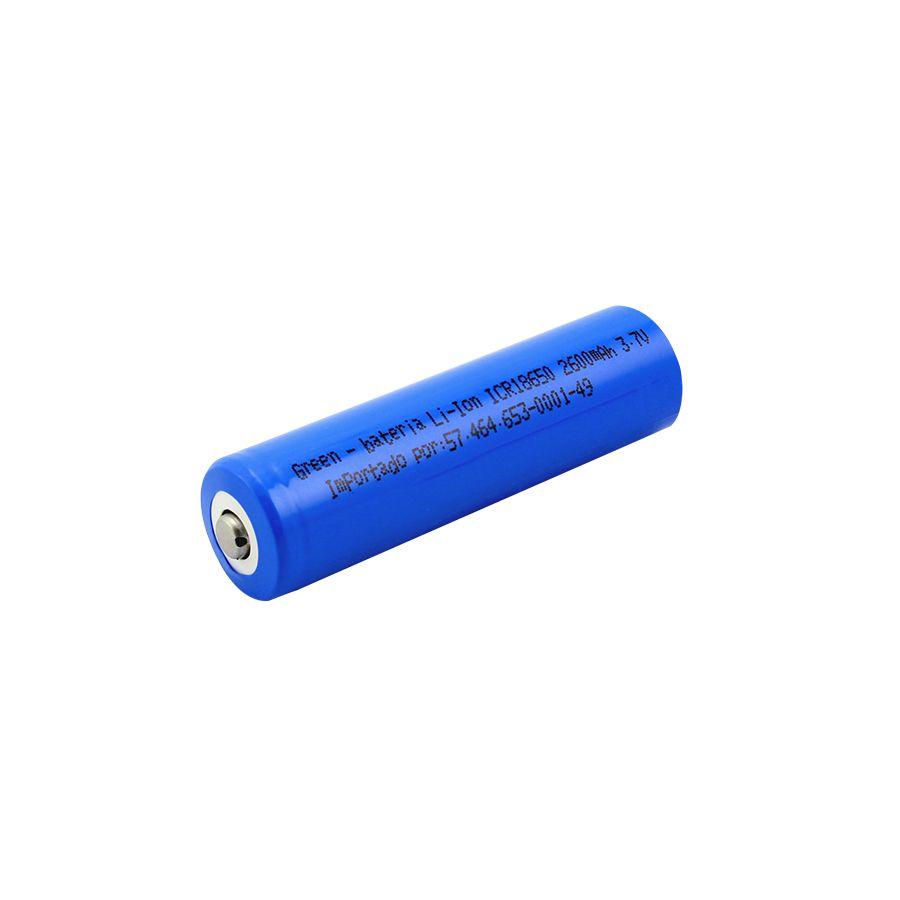 Bateria Íon-Lítio 18650 - 3.7V x 2600mAh
