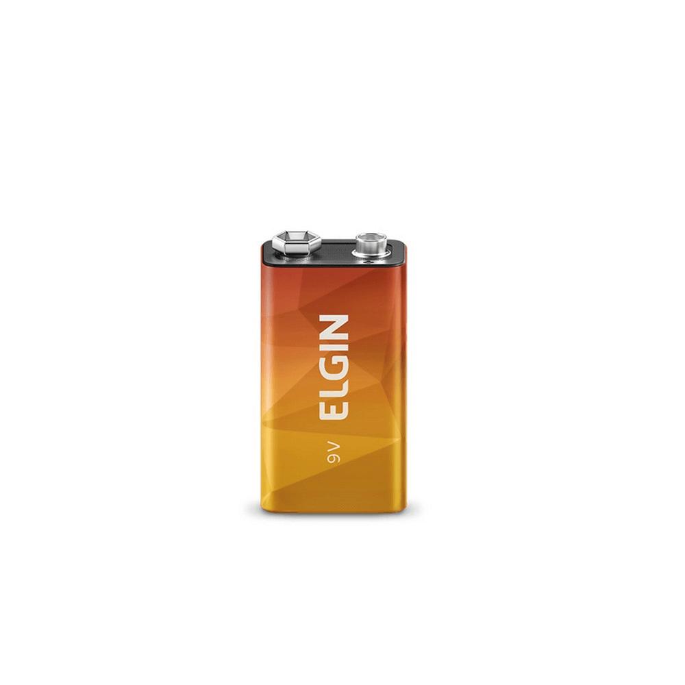 Bateria 9V Zinco-Carvão - Elgin