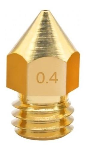 Bico Hotend 1,75MM M6 - Nozzle 0,4MM