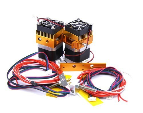 Bloco Com 2 Extrusoras Completas MK8 E3D