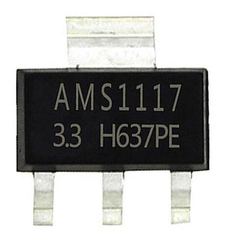 Circuito Integrado ASM1117 SMD - Regulador de tensão 3.3V