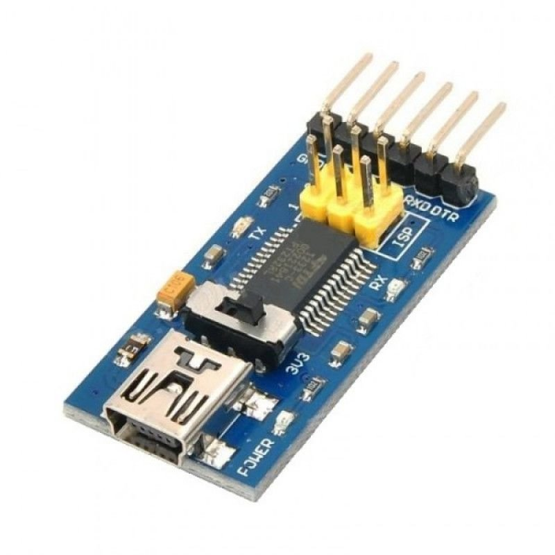 Conversor FTDI FT232RL com chave 3.3V/5V