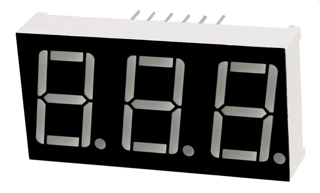 Display de 7 segmentos 3 dígitos