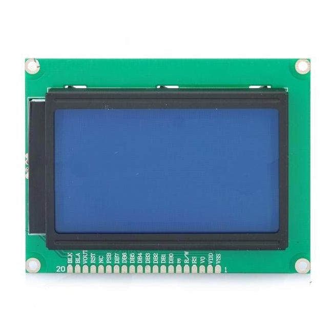 Display Gráfico LCD 128x64 com Backlight Azul