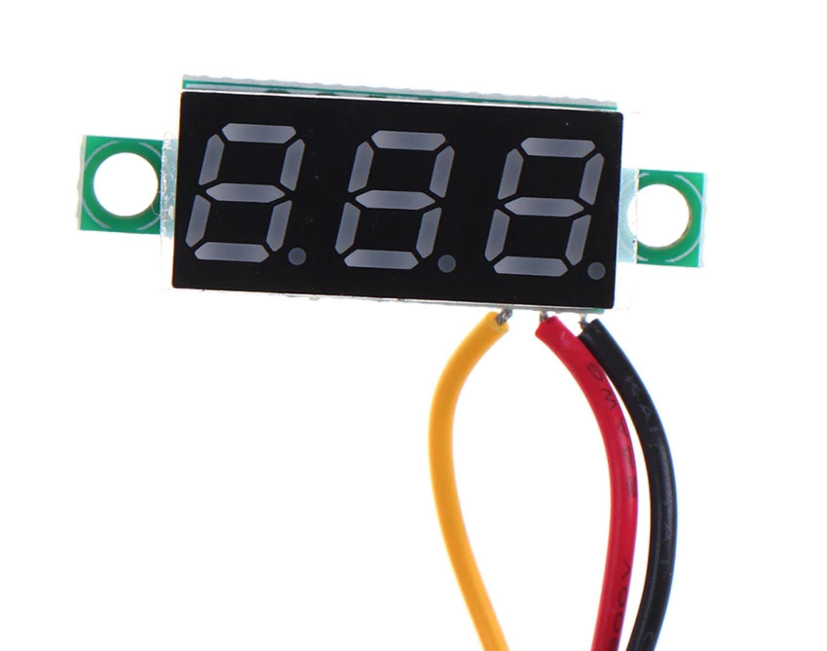 Display Voltímetro 0 a 100V DC