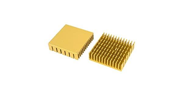 Dissipador de Calor de Alumínio 40x40x11mm - Dourado