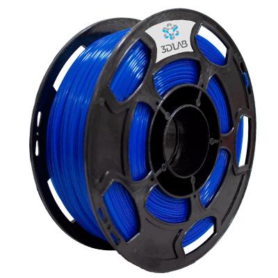 Filamento PLA Azul Translucido 1Kg 1,75mm