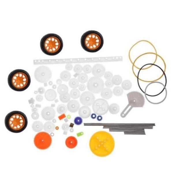 Kit DIY de Engrenagens Plásticas, Polias e Correias - 78 Pçs
