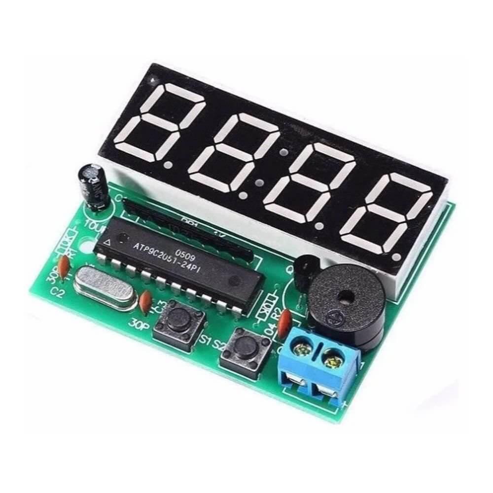 Kit DIY Relógio Eletrônico AT89C2051 - com Alarme