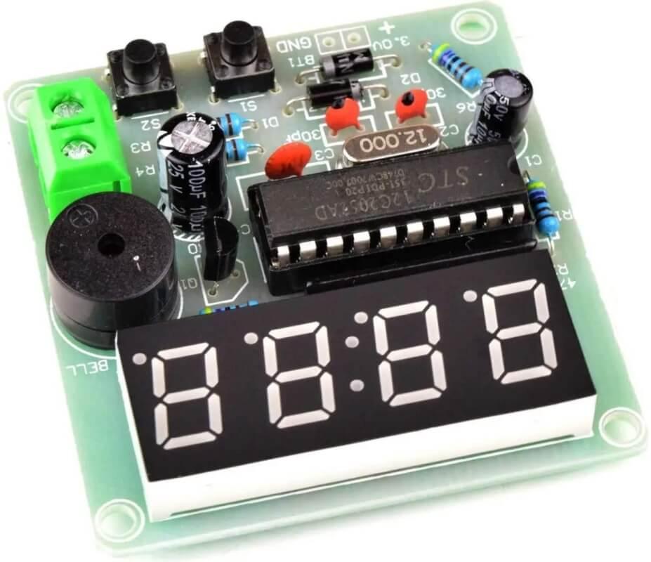 Kit DIY Relógio Eletrônico STC12C2052 - com Alarme