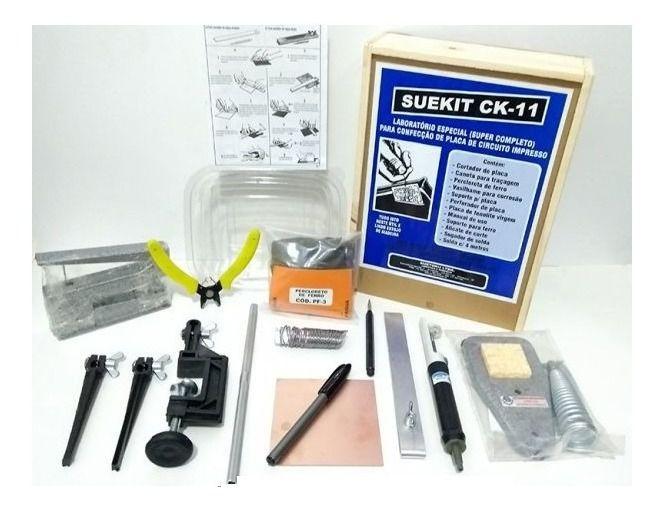 Kit para confecção de Placas de Circuito Impresso Avançado - CK-11